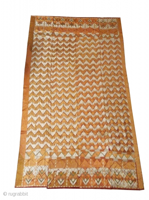 Phulkari from west(pakistan) Punjab India.known As Zik Zak Design Bagh. Very Rare kind of bagh.(IA-001)