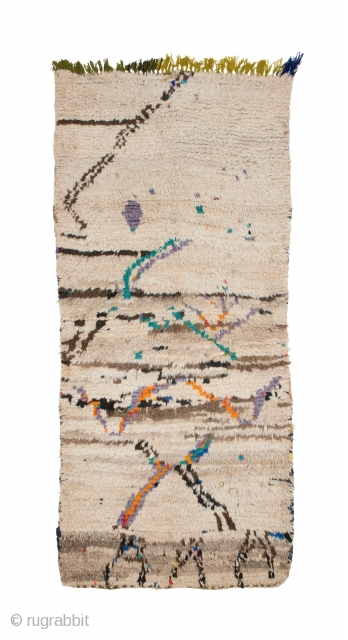 tm 1928, small pile rug from the Azilal region, central High Atlas, Morocco, 1990/2000, 185 x 85 cm (6' 2'' x 2' 10''). 