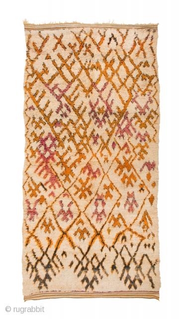 TM 1947, Ait Seghrouchène du Sud, Ait bou Ichauen, eastern High Atlas / plateau du Rekkam, Morocco, 1970s, 345 x 170 cm (11' 10'' x 5' 8'').  www.berber-arts.com