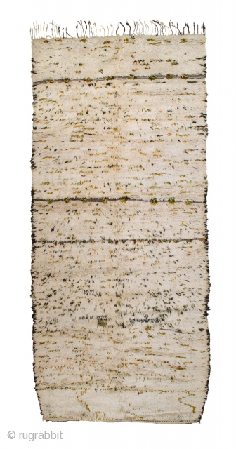 tm 1856, pile rug from the Azilal region, central High Atlas, Morocco, 1970s, 365 x 165 cm (12' x 5' 6''). Published in 'Carpet Collector' 4/2013, p. 46. 