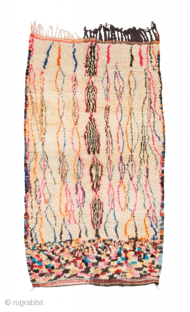 tm 2069, small pile rug from the Azilal region, probably a saddle cover, central High Atlas, Morocco, 1990/2000, 165 x 95 cm (5' 6'' x 3' 2''). www.berber-arts.com
