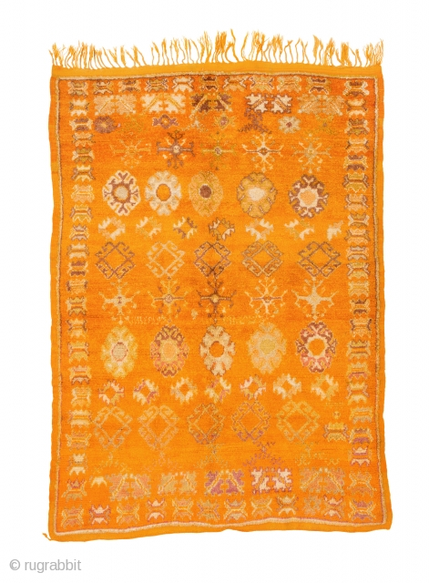 TM 1946, fine pile rug from the Zenaga, Jebel Siroua region, southern Morocco, mid 20th century, 200 x 145 cm (6' 8'' x 4' 10''). 