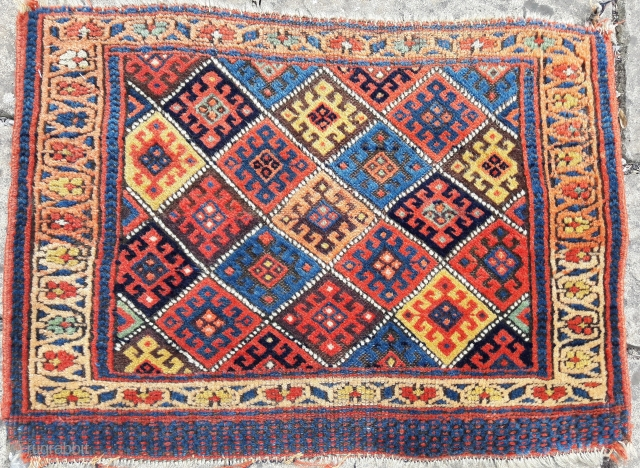 Antique Kurd bag. Excellent saturated colours, great condition 