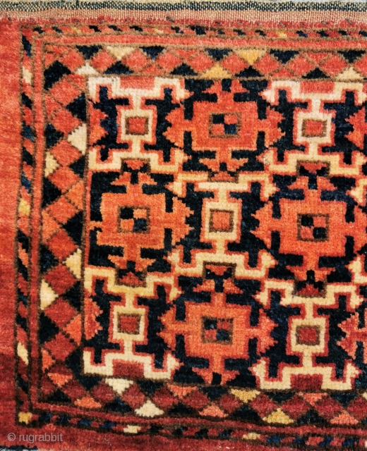Antique Amu Darya region torba, ak-su design Good colours, good condition. Note Perez number 59in by 15in