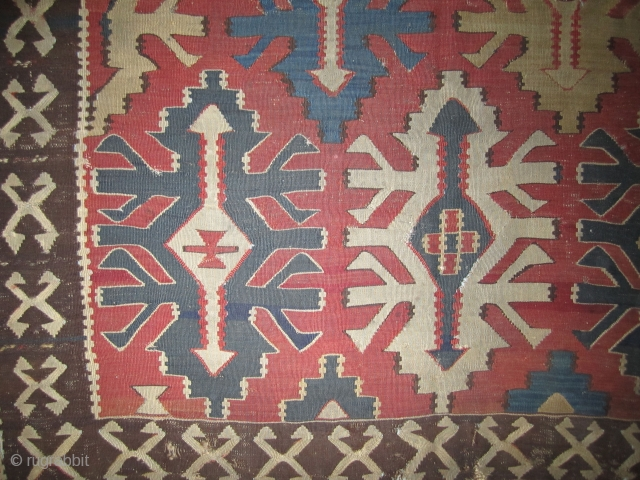 "Caucasian Kilim.....Kuba.....most probably well before 1850.....4'8"" x 8'....