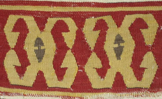 "Central Anatolian Konya kilim fragemnt.....circa 1800....2'4"" x 5'3"" (70 x 160cm ).....probably a half of a 1/2.....condition as found and shown"