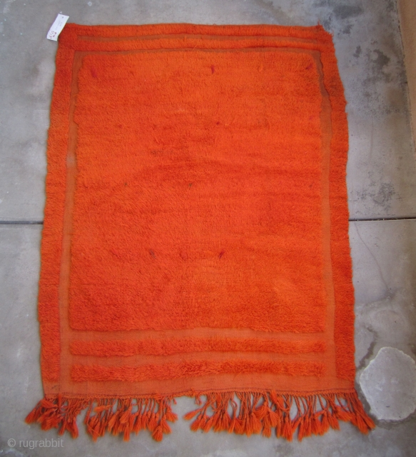 "Karapinar Tulu....mid 20th C.....looped technique / coverlet...wool and Angora goat hair...... 3'10"" x 5'2""...(120 x 160 CM )....dip-dyed with aniline dyes....