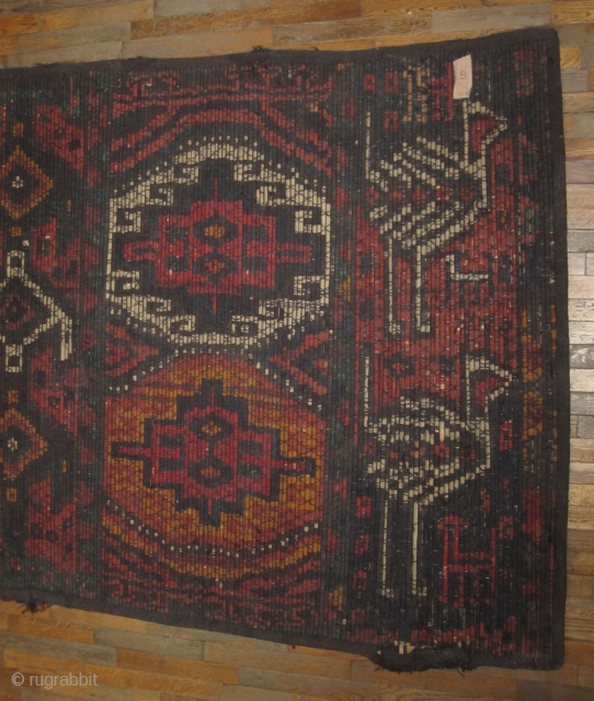 "Reed Screen...Kurdistan ....circa 1900 ...vegetal dyes...wood slates , wool and black goat hair....5'4"" x 18'5""....complete and in good condition ( needs a good wash )"