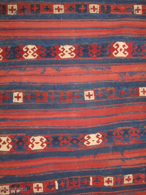 "Yuncu fragment.....mixed technique....circa 1875...Northwest Anatolia ...all vegetal dyes.....5'2"" x 6'4"" ( probably missing about 1'from each end )"