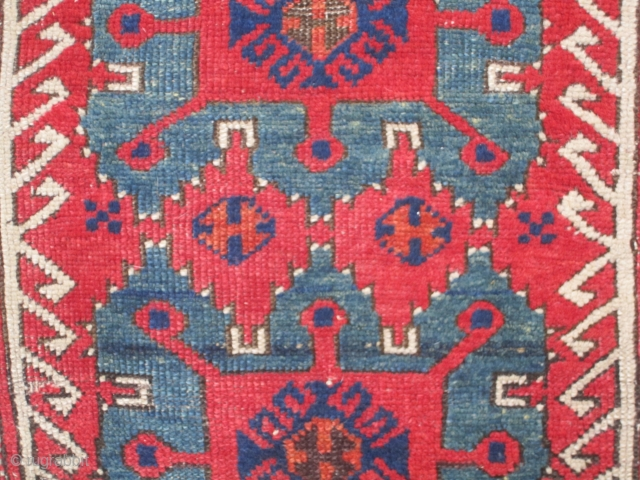 """Konya / Karapinar Yastik......mid-19th Century....all vegetal dyes 21"""" x 37"""" (54cm x 94cm ).... condition as found and as shown"""