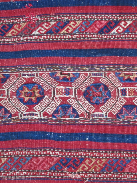 "Northwest Anatolian Cuval ( Bergama-Baliksir area )....19th C......condition as shown.....vegetal dyes...29""x 45"" ( 75cm x 115cm )"