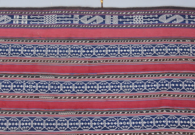 "Persian jajim Coverlet......circa 1900....weft-float brocade....5'5"" x 6'4"" 