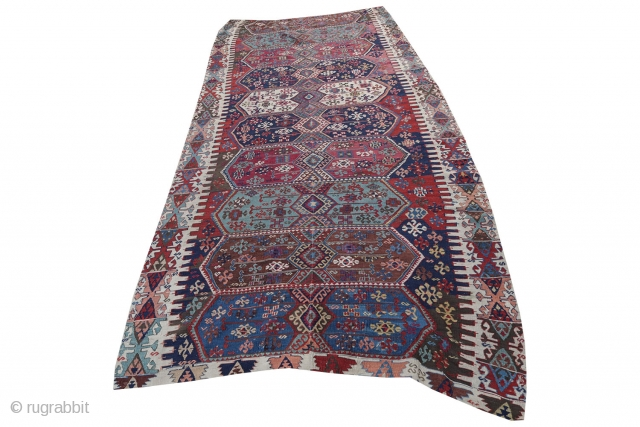 Nice Anatolian kilim 165x385, 5.5x12.8 part of kilim collection being sold .