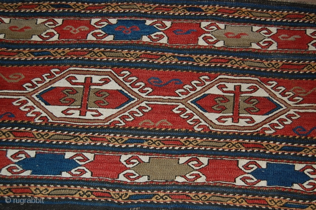 Old Shahsavan soumak persian, very nice colours, and fine weaving, size is 40cm/101 cms, dont know the price please give an honest offer