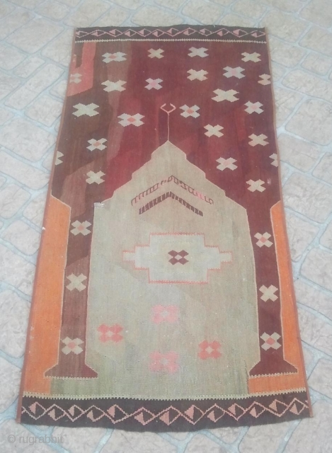 Found these kilims at the bottom of a bin.  I cannot identify.  Any ideas ????? The original kilim was cut into at least for small works. I have three.   ...
