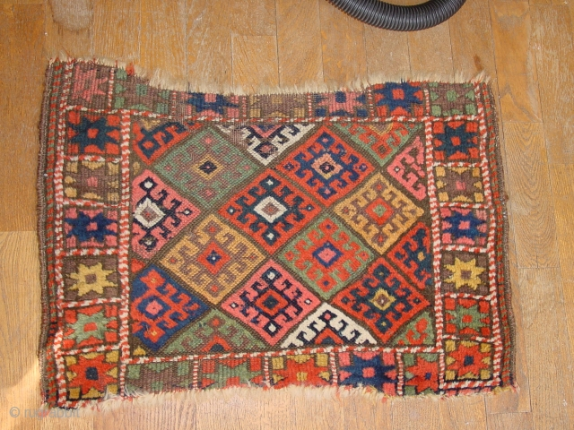 fabulous natural colors, very old 1860 or so, clean  69x50cm  2.3x1.ft