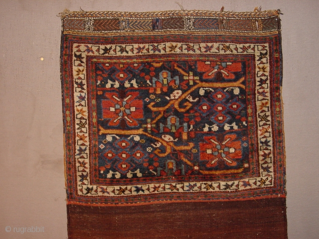 beautiful 1880 antique afshar bag, complete, some minor low pile, no stains, no repairs, fabulous natural colors the whole measures 74x124cm  2.5x4.1ft