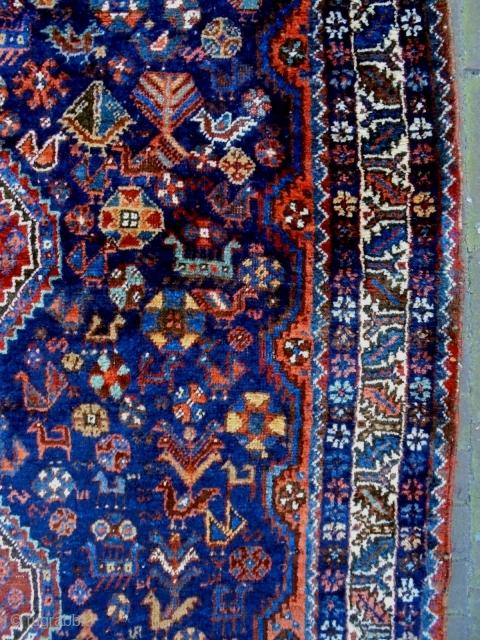 19th Century Fine Qasqhay Size: 130x164cm Natural colors