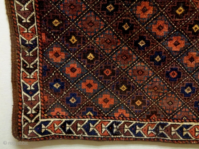 19th Century Baluch Size: 90x80cm Natural colors
