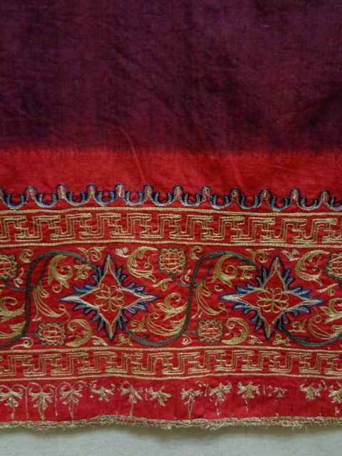 19th Century Indonesian Textile Size: 80x178cm The embroidery is silk