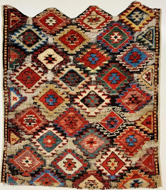 shahsevan Hashtroud Miyaneh fragment 1870 circa.size 81x80cm.