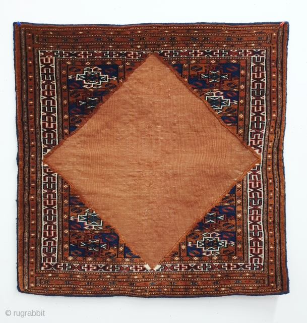 Antique fine Yomud bokche. All natural dyes. Measures 74x75 cm. Bokches are rare and highly collectible. This one is a very nice example in great condition. Reasonably priced.