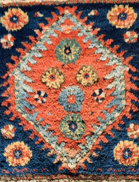 shahsevan bagface 1880 circa first quality of wool and colors, perfect conditional•••size 60x57cm
