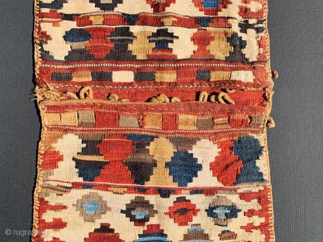 Shahsevan kilim khorjin wool on wool all good colors,1880 circa-size 127x50cm
