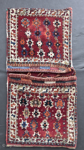 Fantastic South Persian tribal khorjin early 20th C.