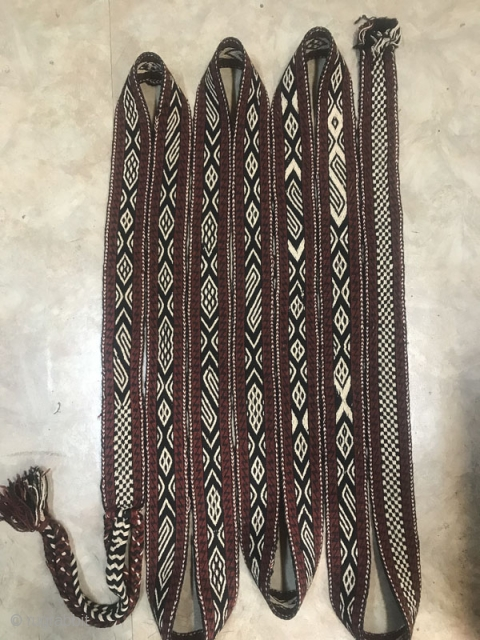 Bakhtiari tent band,good condition,Size:760X8 cm