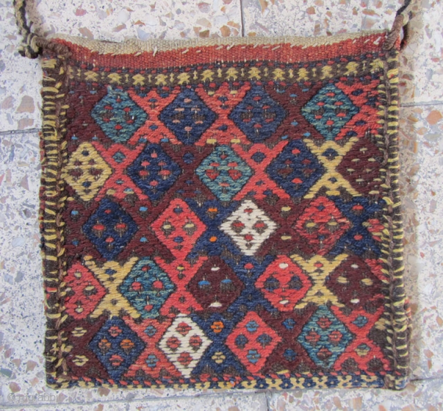 Kordish bag from Sanjabi kermanshah.not washed but in good condition.Size:38x38 cm