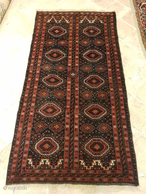Baluch rug in a good condition,some Silk were worked in it,Size:185x95 cm