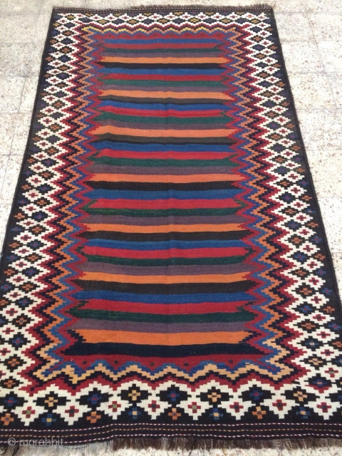 sw Persia double interlock kilim ,Lor i Bakhtiari ,in perfect condition,Size:255x150 cm