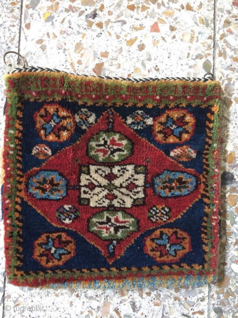 Sw persia bag from Shekarlu tribes in fine condition,Size:31x30 cm