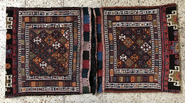 Rare type of Sumac saddlebags from loshan in perfect condition,all natural colores,Size:135x68 cm,