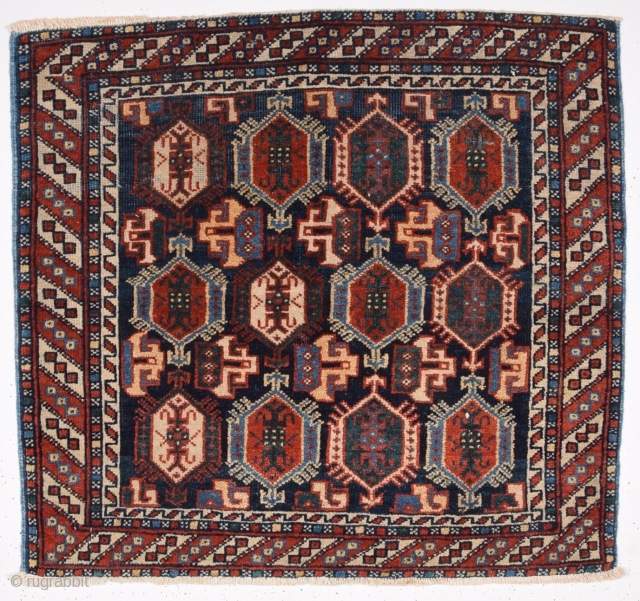 19th Century Persian Afshar Bag Face size 62x68 cm