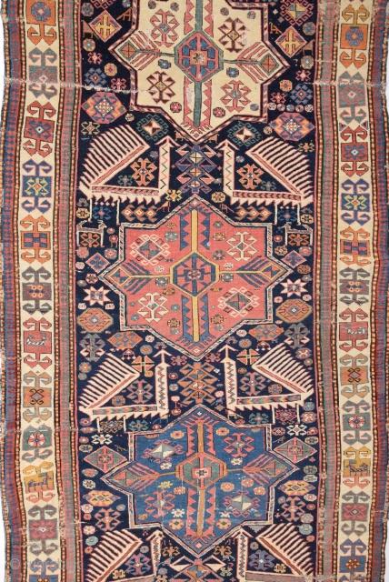 Mid 19th Century Akstafa Runner size 116x282 cm