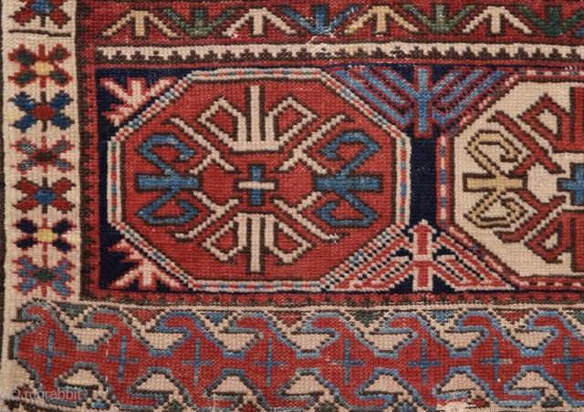 Shirvan Bag Face circa 1880 size 46x52 cm