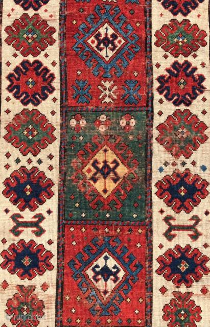 Caucasian Rug circa 1850 size 137x257 cm