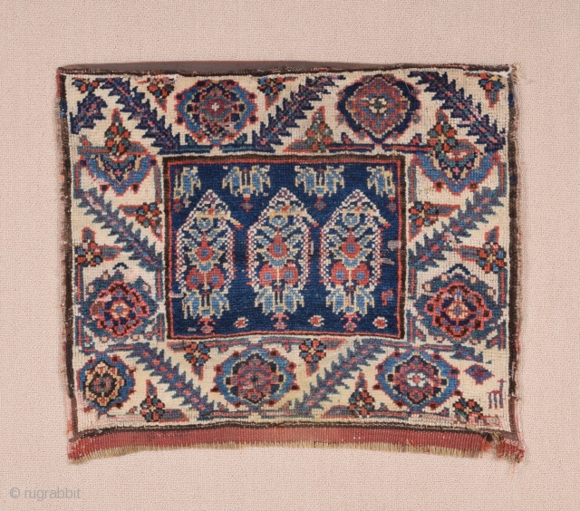 Persian Kurdish Bag c1880's size 55x69 cm