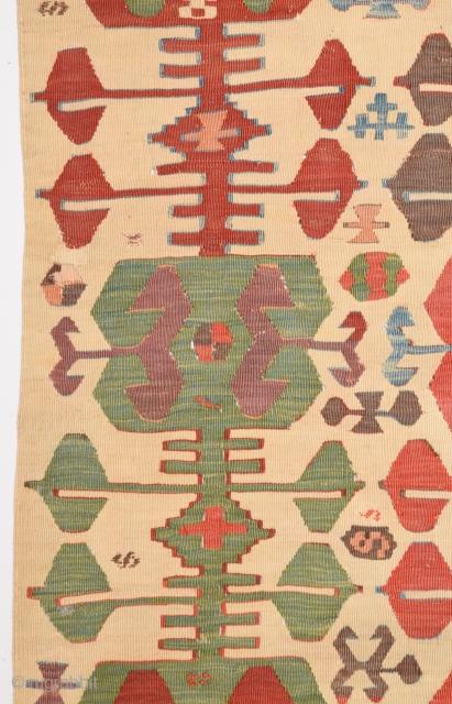 18th Century Central Anatolian Konya Kilim Fragment size 80x188 cm