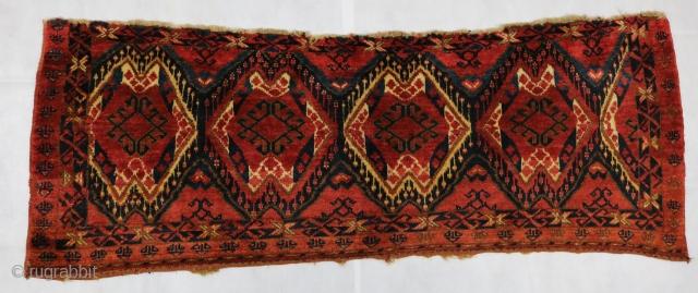 ca.1890 Antique Ersari Beshir Torba Size:59x155 cm 2x5.1 ft,