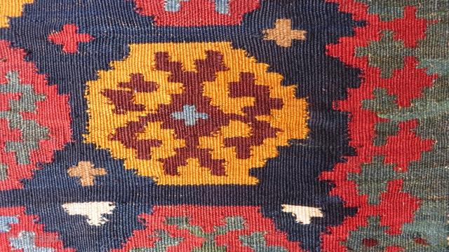 khamseh kilim bag 1880 circa size 146x80cm
