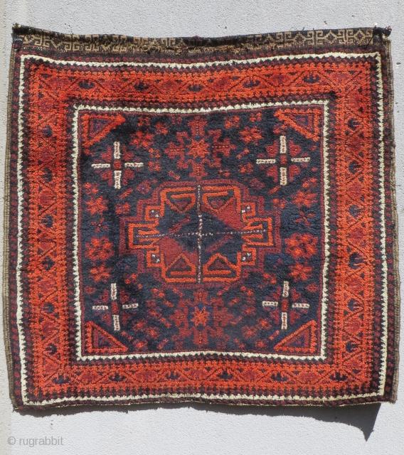 old Baluch Turkmen gul size 74x70