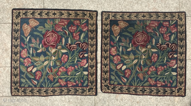 Pair Kerman Lavar 1870 circa,,in very good condition size 60x60cm