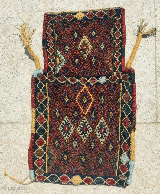 Kurdish jaf saltbag,1880 circa,size 60x37xs
