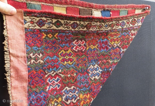 NW Persian sumak bagface,1870 circa.size 60x56cm