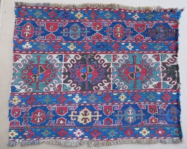 Shahsevan sumak mafrash panel-1880, all fantastic natural dyes,size 46x57cm