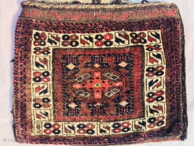 2 face Baluch bag 1880 circa 42x38cm
