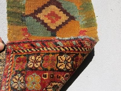 Qashqai Chanteh circa 1880 all right color -size 25x44cm with Kilim